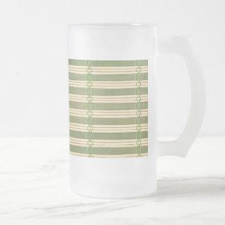 Mirada de bambú de la textura de la estera del taza de cristal