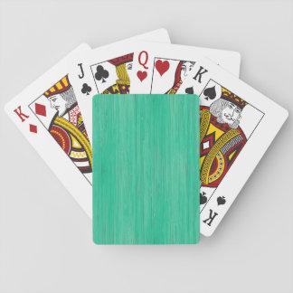 Mirada de bambú del verde de mar cartas de juego