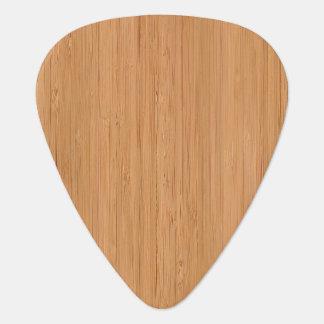Mirada de bambú natural uñeta de guitarra