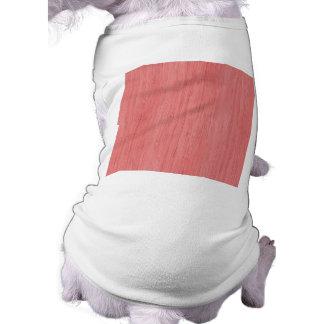 Mirada de bambú rosada coralina camisa de mascota