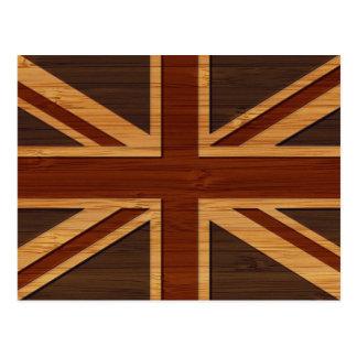 Mirada de bambú y bandera BRITÁNICA grabada Union Postal