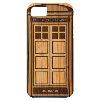 Mirada de bambú y caja de llamada divertida grabad iPhone 5 Case-Mate cobertura