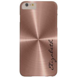 Mirada de bronce del metal del acero inoxidable funda para iPhone 6 plus barely there
