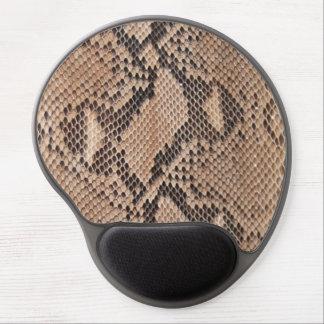Mirada de Brown Snakeskin Alfombrilla De Ratón Con Gel
