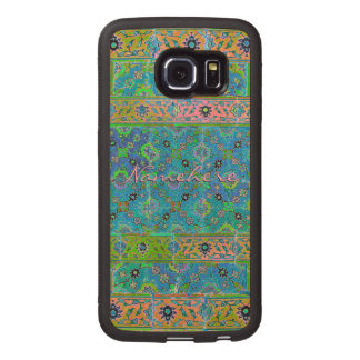 ¡Mirada de cerámica viva colorida! ¡Bonito! ¡Añada Fundas De Madera Para Samsung S6 Edge
