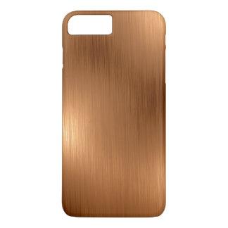 Mirada de cobre cepillada funda iPhone 7 plus