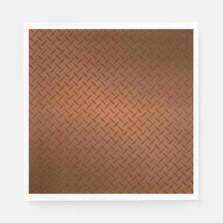 Mirada de cobre del modelo de Diamondplate Servilleta Desechable