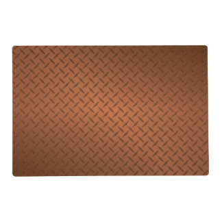 Mirada de cobre del modelo de Diamondplate Tapete Individual