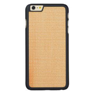 Mirada de color salmón de la malla de la armadura funda de arce carved® para iPhone 6 plus slim