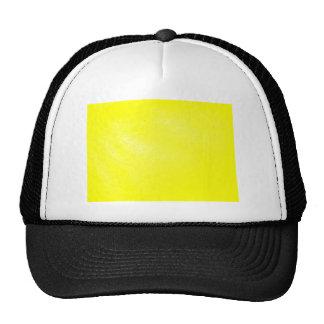 Mirada de cuero amarilla (falsa) gorro de camionero