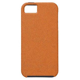Mirada de cuero anaranjada iPhone 5 Case-Mate protectores