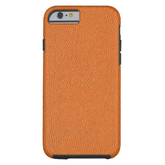 Mirada de cuero anaranjada funda de iPhone 6 tough