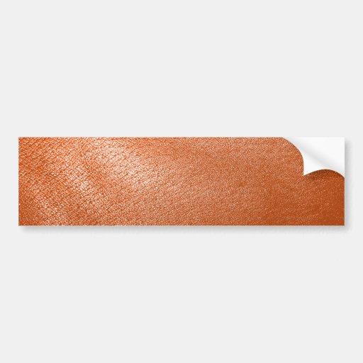 Mirada de cuero anaranjada pegatina de parachoque
