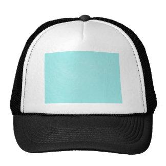 Mirada de cuero azul en colores pastel gorras