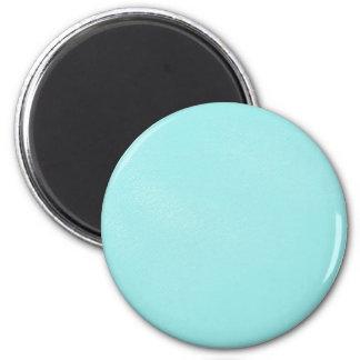 Mirada de cuero azul en colores pastel imán redondo 5 cm
