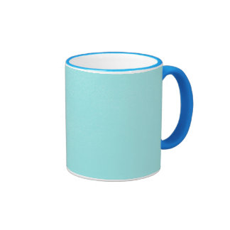 Mirada de cuero azul en colores pastel taza de café