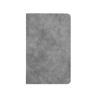 Mirada de cuero en gris de pizarra cuaderno grapado