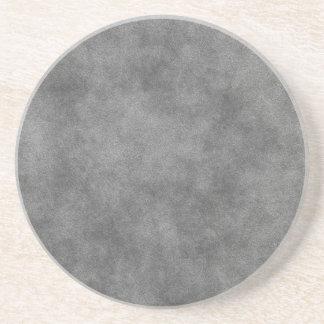 Mirada de cuero en gris de pizarra posavaso para bebida