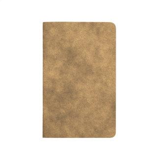 Mirada de cuero en oro cuadernos