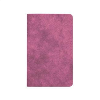 Mirada de cuero en rosa polvoriento cuadernos grapados