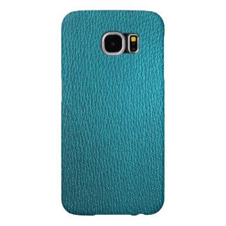 Mirada de cuero natural de los tonos azulverdes fundas samsung galaxy s6