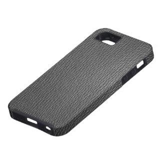 Mirada de cuero natural de los tonos del negro iPhone 5 carcasa