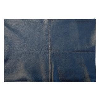 Mirada de cuero negra con la costura mantel individual