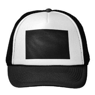 Mirada de cuero negra gorras