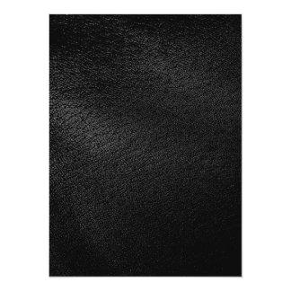 """Mirada de cuero negra invitación 5.5"""" x 7.5"""""""