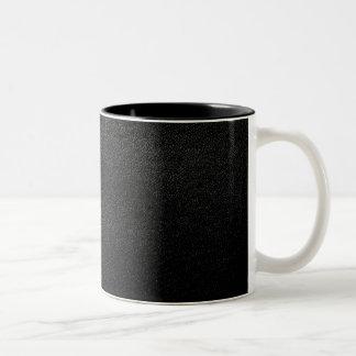 Mirada de cuero negra taza de café