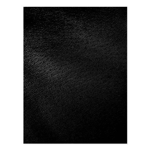 Mirada de cuero negra postal