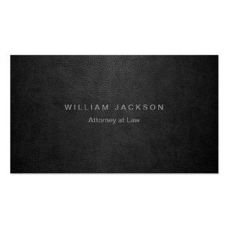 Mirada de cuero negra tarjeta de visita