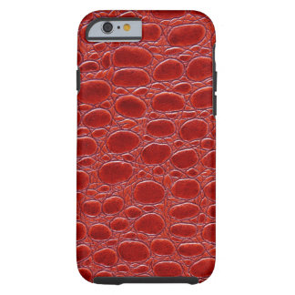Mirada de cuero roja del cocodrilo funda para iPhone 6 tough