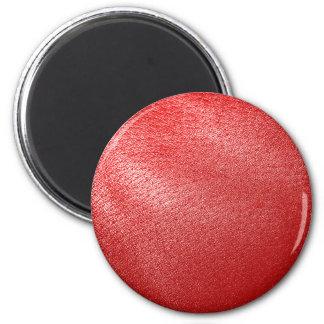 Mirada de cuero roja imán redondo 5 cm