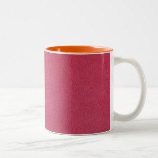 Mirada de cuero rosada tazas