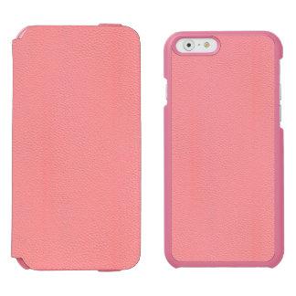 Mirada de cuero rosada rayada del grano funda billetera para iPhone 6 watson