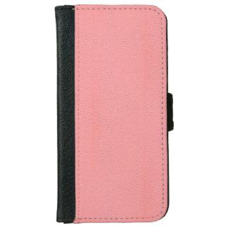 Mirada de cuero rosada rayada del grano funda cartera para iPhone 6