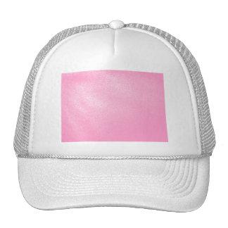 Mirada de cuero rosada suave (falsa) gorras de camionero