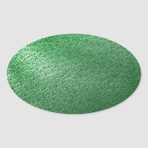 Mirada de cuero verde pegatina ovalada