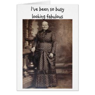 Mirada de cumpleaños tardío divertido fabuloso tarjeta de felicitación