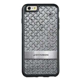 Mirada de hombres metálica del diamante de la funda otterbox para iPhone 6/6s plus