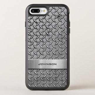 Mirada de hombres metálica del diamante de la funda OtterBox symmetry para iPhone 7 plus
