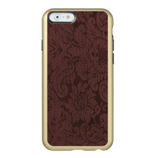 Mirada de la armadura del damasco del vino rojo funda para iPhone 6 plus incipio feather shine