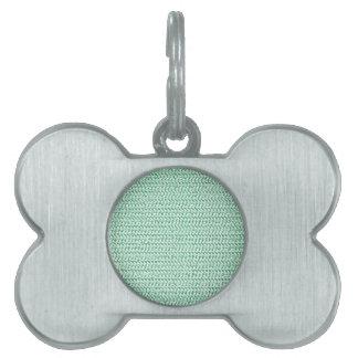 Mirada de la armadura del verde de Seafoam Placa De Nombre De Mascota