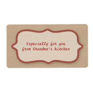 Mirada de la cartulina, etiqueta roja del control etiqueta de envío