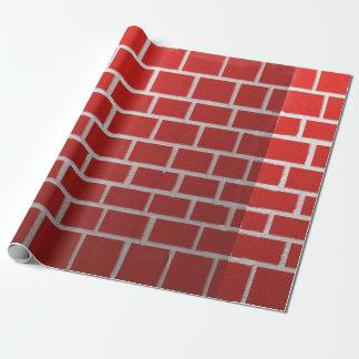 Mirada de la chimenea del ladrillo rojo papel de regalo