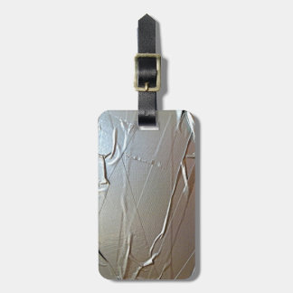 Mirada de la cinta aislante etiqueta de maleta