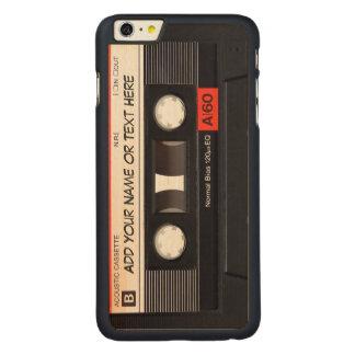 Mirada de la cinta de casete de música del vintage funda de arce carved® para iPhone 6 plus slim