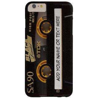 Mirada de la cinta de casete de música del vintage funda para iPhone 6 plus barely there