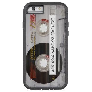 Mirada de la cinta de casete de música del vintage funda para  iPhone 6 tough xtreme